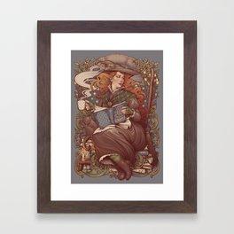 NOUVEAU FOLK WITCH Framed Art Print