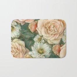 Floral rose pattern Bath Mat