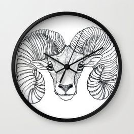 Ram Head Wall Clock