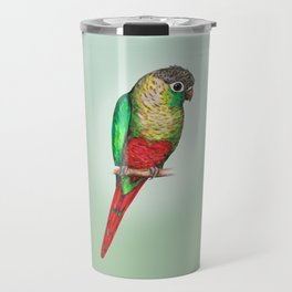 Conure with a heart on its belly Travel Mug