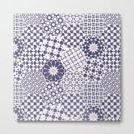 Spanish Tiles of the Alhambra - Violets Metal Print