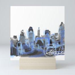 rush hour in the rain - atlanta, ga Mini Art Print
