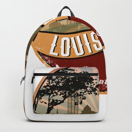 Louisville City Skyline Design Kentucky Retro Vintage Backpack