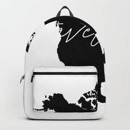 Black and white world map-travel often Backpack