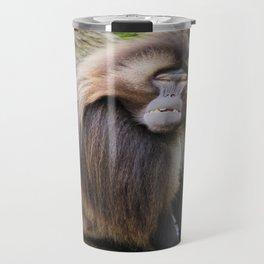 Baboon Looking At me Travel Mug