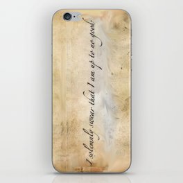 I solemnly swear I am up to no good iPhone Skin