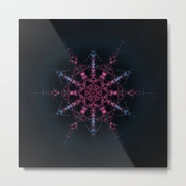 Transition from Chaos Mandala Metal Print