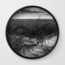 Wood In The Marsh Wall Clock