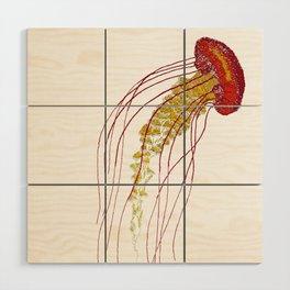 Stitches: Jellyfish Wood Wall Art