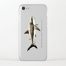 """""""Carcharodon carcharias II"""" by Amber Marine  ~ Great White Shark Illustration, (Copyright 2015) Clear iPhone Case"""