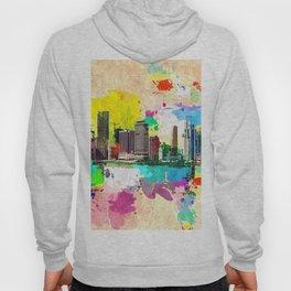 Miami Skyline Grunge Hoody
