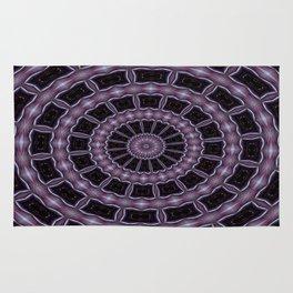 Eggplant and Pale Aubergine Kaleidoscope Pattern Rug