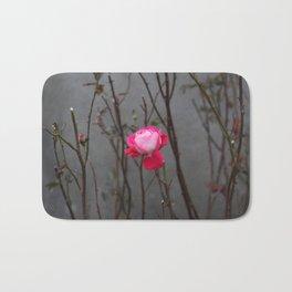 Bi-color rose Bath Mat