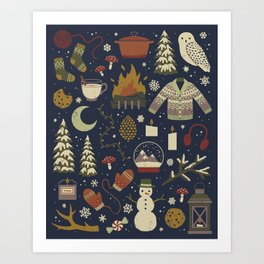 Winter Nights Art Print