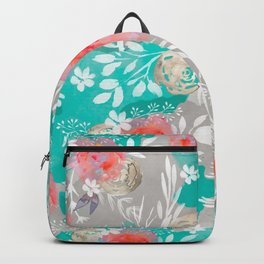 Edit Watercolor Flourish Backpack
