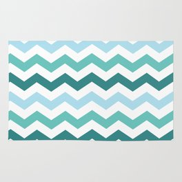 Chevron forest Rug