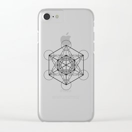 Metatron's Cube 2 Clear iPhone Case