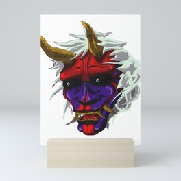 oni red demon Mini Art Print