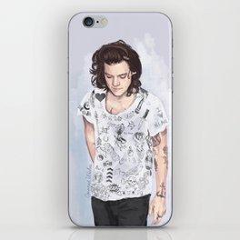 Harry 1D tattoos T-shirt iPhone Skin