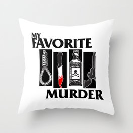 MY FAVORITE MURDER X BLACK FLAG Throw Pillow