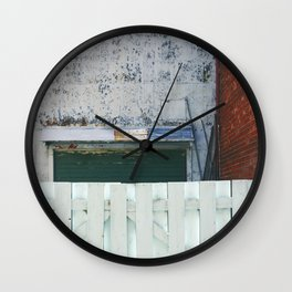 Behind the fence Wall Clock