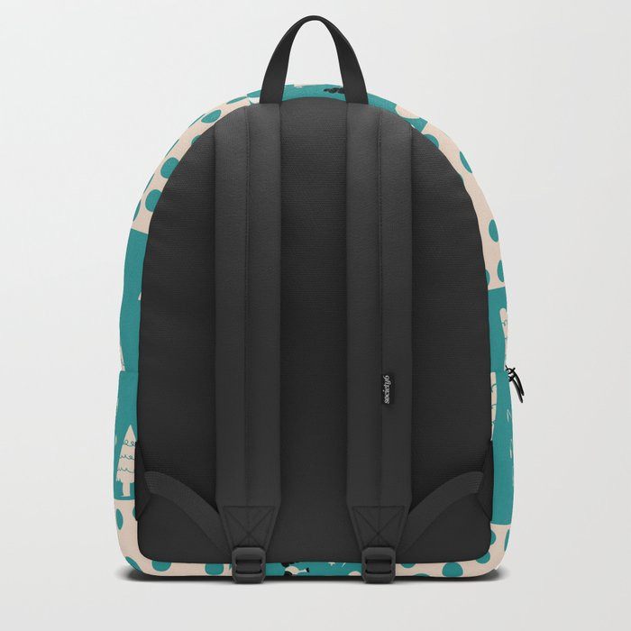 Unicorn Teal patchwork Backpack