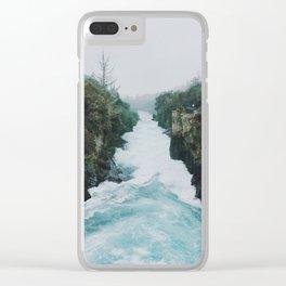 Huka Falls Clear iPhone Case