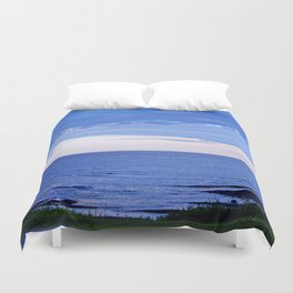 Blue on Blue at the River Mouth Duvet Cover