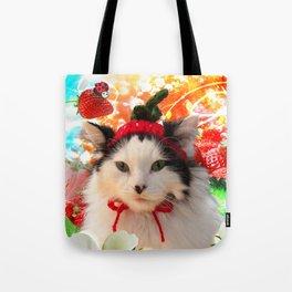Strawberry Shortfluff Tote Bag