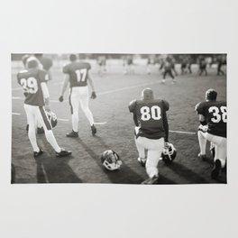 American Football players Rug