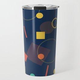 Triangles,Circles,Squire, Travel Mug