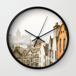 Grassmarket Rooftops Wall Clock