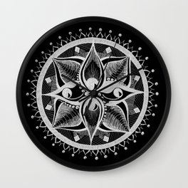 Four Eyed Mandala Wall Clock