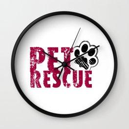 PET RESCUE Wall Clock