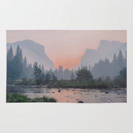 Yosemite Valley Sunrise Pretty Pink Rug