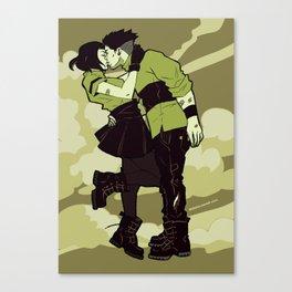 x-flavored-kiss-greens Canvas Print