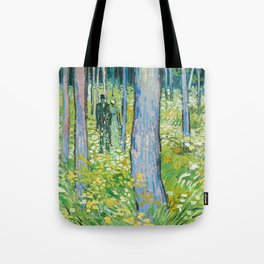 Undergrowth with Two Figures by Vincent van Gogh Tote Bag