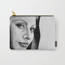 Sophia Loren Drawing By Faten  Carry-All Pouch