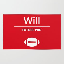 Will Future Pro - Red and White Rug