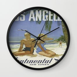 Vintage poster - Los Angeles Wall Clock