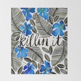 Killin' It – Tropical Blue Throw Blanket