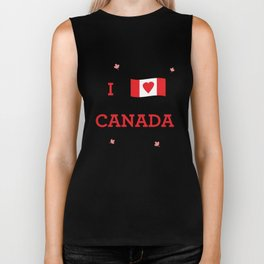I heart Canada Biker Tank