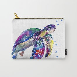 Sea Turtle Rainbow Colors Carry-All Pouch