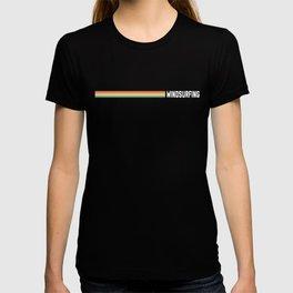 Windsurfing Retro Striped T-shirt