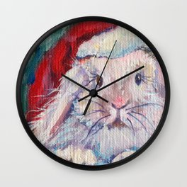 Jingle Bunny Wall Clock