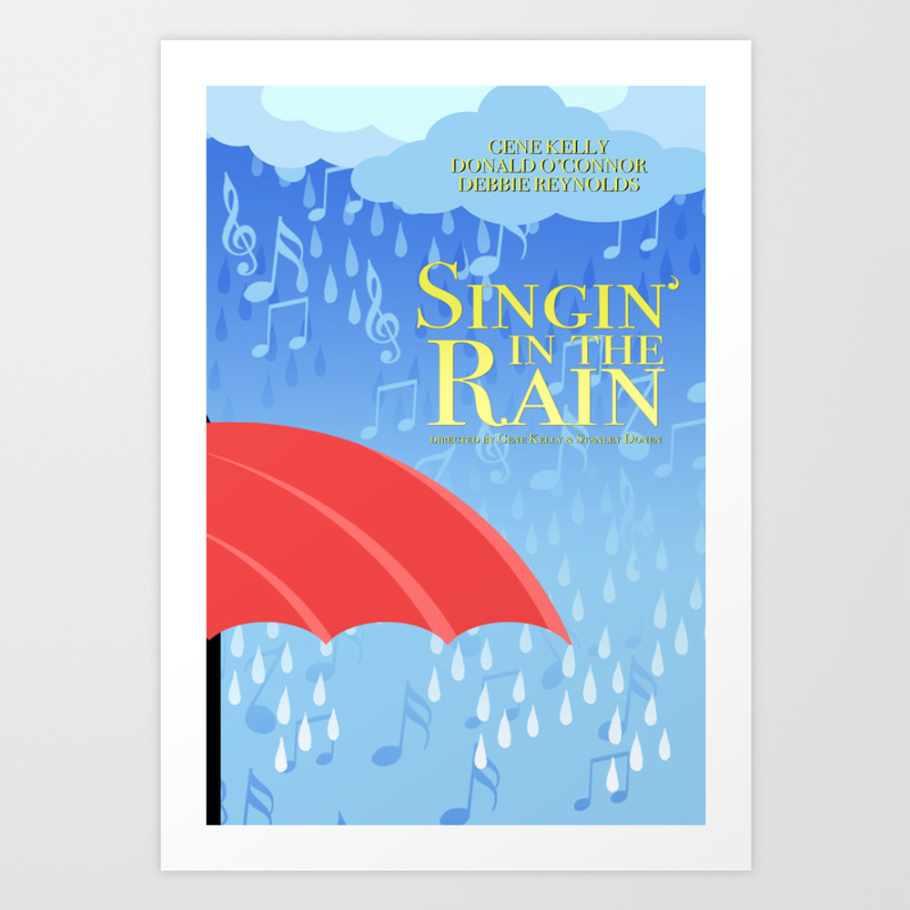 Singin' In The Rain Art Print by Drwdesign PRN8649997