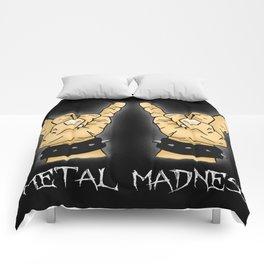 Metal Madness Horns Comforters
