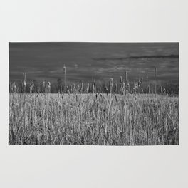 Cattails and reeds in the marsh Rug