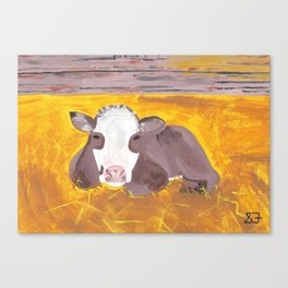 A Heifer Calf Named Darla Canvas Print
