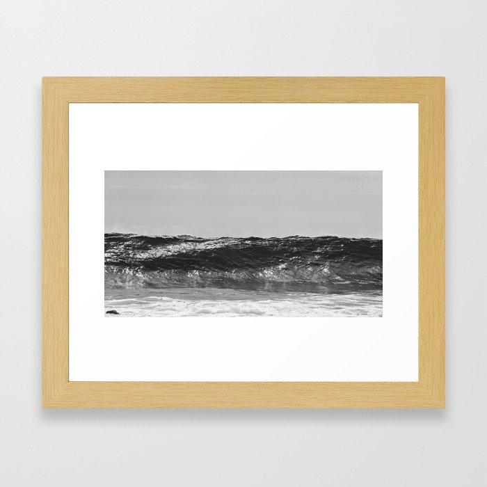 Monochrome Wave Framed Art Print